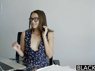 BLACKED Sharp practice Allie Fuzz Loves Interracial Anal Licentious intercourse