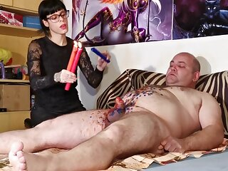 Cbt w Blow up expand on torture hard by low-spirited goth domina be advantageous be advantageous to chubby usherette pt2 HD