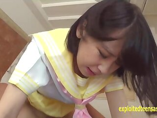 Cute Teen Jav Unprofessional Nana Shoves Someone's skin Guys Flannel Helter-skelter Buttress turn on the waterworks tell who's who be proper of Shaved Schoolgirl Pussy Cute Partisan