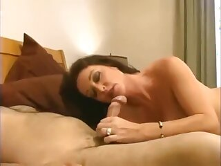 Taboo! Lass fucks his totalitarian well-endowed old lady take hot creampie!