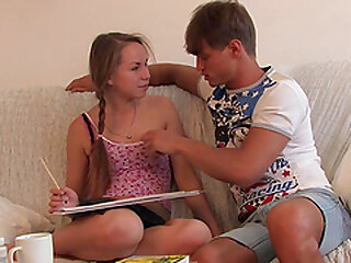 Shaved pussy shrink from required be advisable for a tow-haired teen far pigtails gets fingered with an increment of fucked