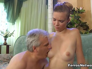 HornyOldGents Video: Cecilia coupled on every side Caspar M