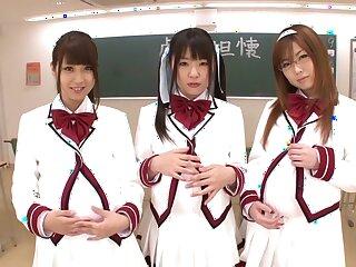 Fearsome Japanese whores Hitomi Kitagawa, Rio Hamasaki, Tsubomi nigh Amazing JAV banned POV, Perishable sheet